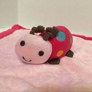 Carter's Ladybug Safety Blanket Lovey Pink Soother
